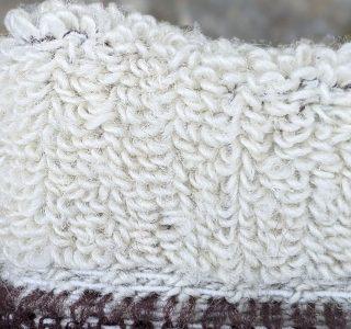 Frottee-Polsterung in Socken