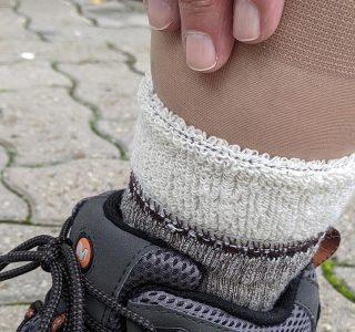 Zwei Socken übereinander tragen?